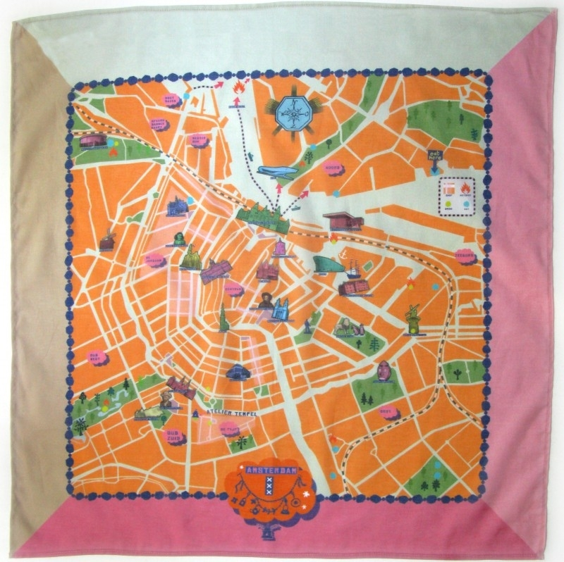 scarve . amsterdam map . orange