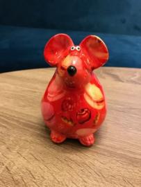 Pomme Pidou Brilhouder muis (rood met macarons)