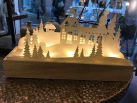 Long Island Living Kerkscène papier met LED