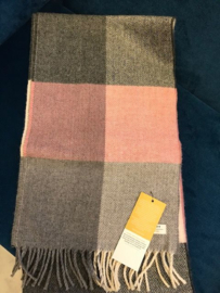 Mc Nutt Sjaal 100% merino wol Rose and grey check
