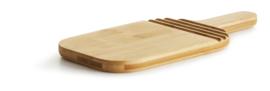 Sagaform snij- en serveerplank ovaal bamboe