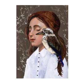 Kookaburra poster van Esther Sepers