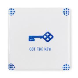 Storytiles Tegelkaart Got the key