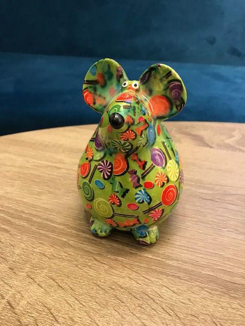 Pomme Pidou Brilhouder muis (groen met lolly)