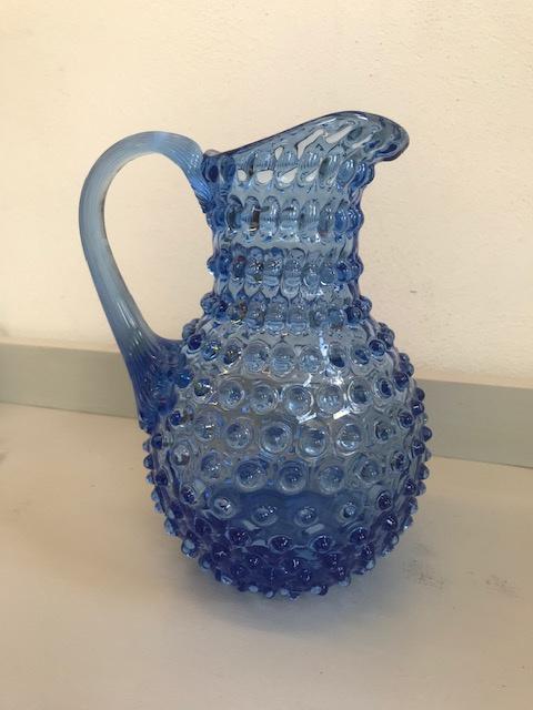 Markhbein glazen werper (blauw)