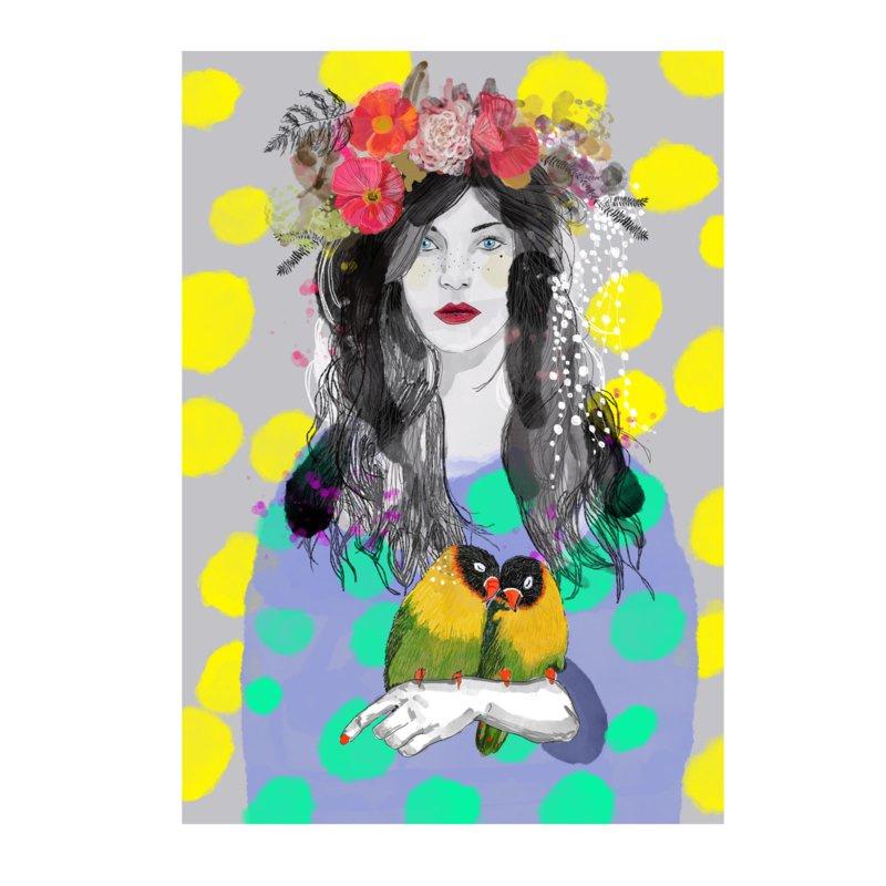 """Bonte Vogel """"Lente"""" Poster van Esther Sepers"""
