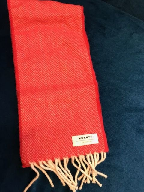 Mc Nutt Sjaal voor kinderen 100% merino wol (rood)