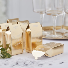 CONFETTI DOOSJE GOUD | WITTE CONFETTI | GOLD WEDDING | GINGER RAY