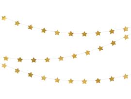 STER WOONSLINGER  - GOUD - CA. 360 CM (GARLAND STARS)