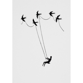 POSTKAART BIRDS  | WONDERLAND | RÄDER | ART. 62797