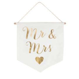 MR & MRS BANNER VAAN | WIT/GOUD | GOLD | SASS & BELLE