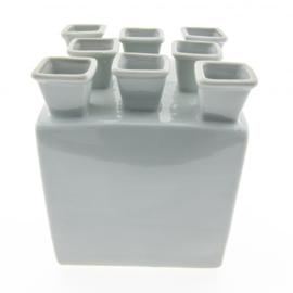 Tulpenvaas Wit Vierkant | 15 cm | Heinen Delfts Blauw
