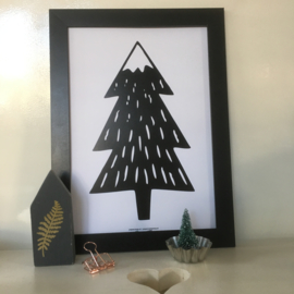 Snowy Tree | A4 poster print