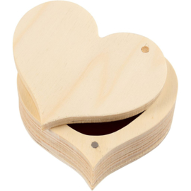BLANCO | HOUTEN HART DOOSJE | 9 x 4 cm
