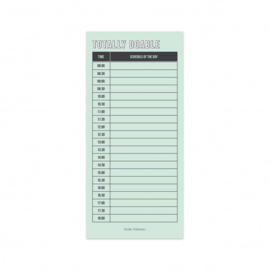Notitieblok Noteblock Totally Doable Schedule | Dagplanner | 9,8 x 21 cm | 50 pagina's (80 grams) | Studio Stationery