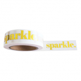 Washi Tape - Masking Tape | Sparkle Quote | Goudfolie