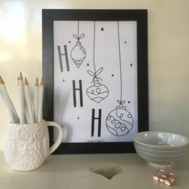 Ho Ho Ho Ornaments | A4 poster print