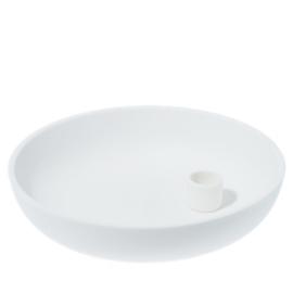 Kandelaar Lidatorp XL Ø26 cm | mat wit | Storefactory
