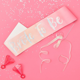 BRIDE TO BE HEN SASH SJERP | ROZE & IRISERENDE FOLIE | BRIDE TRIBE | GINGER RAY