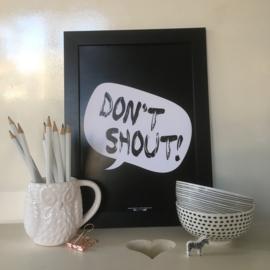Don't Shout | A4 poster print