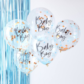 CONFETTI BALLONNEN BABY BOY | 5 STUKS | TWINKLE TWINKLE | GINGER RAY