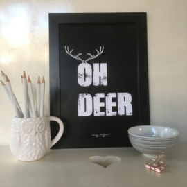Oh Deer | A4 poster print