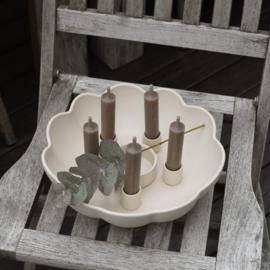 Storefactory Karaby Kandelaar Ø26 cm | Mat beige | Collectie SS 2021