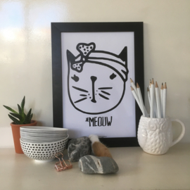 Meouw Girl | A4 poster print