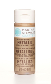MARTHA STEWART METALLIC ACRYL VERF | ROSE GOLD | 59 ML | MULTI SURFACE CRAFT PAINT