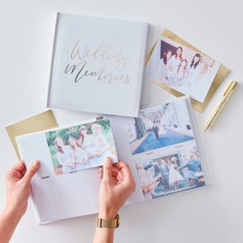 FOTOALBUM WEDDING MEMORIES BRUILOFT | GOUD WIT | GOLD WEDDING | GINGER RAY
