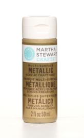 MARTHA STEWART METALLIC ACRYL VERF | GOLD | 59 ML | MULTI SURFACE CRAFT PAINT