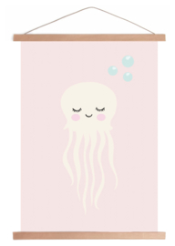 Jellyfish [kwal] | A3 kinderkamer poster print | Land of Kids