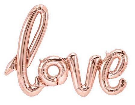 FOLIE BALLON LOVE ROSEGOUD | 102 CM | FOLIESCRIPT BALLON