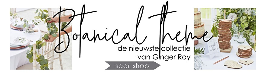 De nieuwe collectie van Ginger Ray is gearriveerd; Botanical Wedding