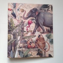 Multomap met vintage dierentekeningen. *** Uitverkocht ***