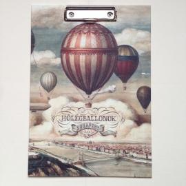 Klembord met vintage luchtballonnen *** Uitverkocht ***
