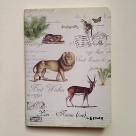 Mooi schriftje met prachtige oude dieren tekeningen