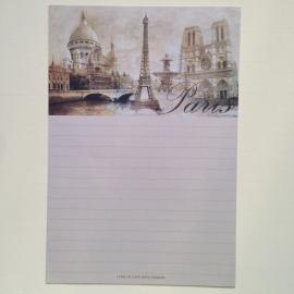 Briefpapier set van 8 bladen, met prachtige decoraties *** Uitverkocht ***
