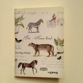 Prachtig vintage schriftje met mooie oude dierentekeningen