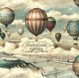 Prachtig decor papier met vintage luchtballonnen voor vele toepassingen