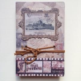 Vintage Notebook met prachtige bladzijden
