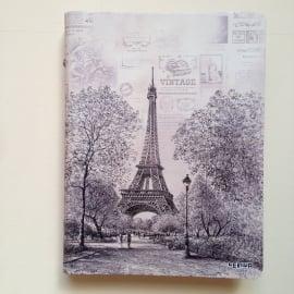 *** UITVERKOCHT *** Vintage pentekening ringband van Eiffeltoren, Parijs GROOT formaat *Met Inhoud*