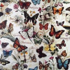 Prachtig decor papier met vintage vlinder tekeningen, voor vele toepassingen.