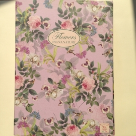 Bewaarbox voor schriften en documenten met prachtig bloemen en vlinders design. *** Uitverkocht ***
