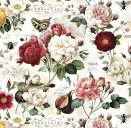 Prachtig antieke rozen tekeningen, decor papier voor vele toepassingen