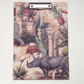 Klembord met vintage dierentekeningen
