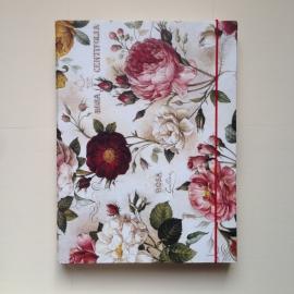 Bewaarbox voor schriften en documenten met antieke rozen design