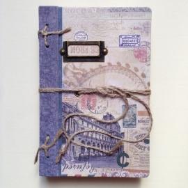 Vintage Notebook `City` met prachtige bladzijden