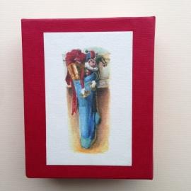Handgemaakte bewaarbox met 10 prachtige mini postkaarten.