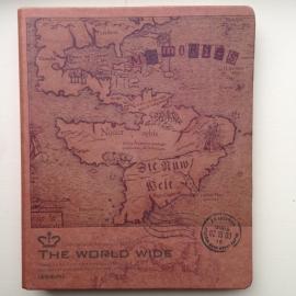 Kraft ringband met kaart van `nieuwe wereld`, met inhoud